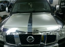 Оклейка Nissan TITAN в хром Nippon..