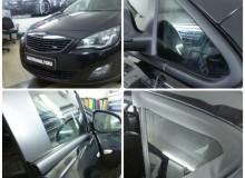 Оклейка хромированных элементов в черный мат на Opel Astra!