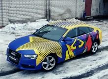 Оклейка AUDI A5 в полноцветную матовую винилографию с глянцевыми вставками.  Доверяйте свое авто профессионалам!  Студия винилового стайлинга #AUTOVINIL76RU.