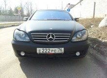 Mercedes Benz s500 черный матовый