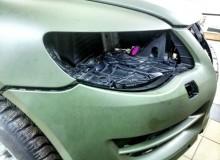 Полная оклейка Volkswagen Touareg в 3М military green #AUTOVINIL76RU