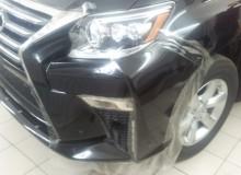 Защитная оклейка бампера, капота, крыльев, фар, зеркал, порогов и под ручками в полиуретан Lexus LX470