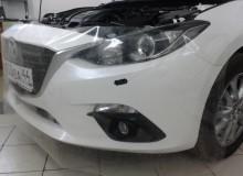 Mazda 3: бампер, фары, зеркала, пороги в ПВХ, капот в полиуретан