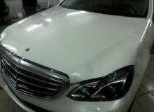 Защитная оклейка передней части на Hyundai Santa Fe в полиуретан HEXIS/Доверяйте свое авто профессионалам!  Студия винилового стайлинга #AUTOVINIL76.RU.