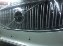 Защитная оклейка передней части на Hyundai Santa Fe в полиуретан HEXIS/ Доверяйте свое авто профессионалам!  Студия винилового стайлинга #AUTOVINIL76.RU.