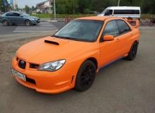 Subaru Impreza оранжевый матовый kPMF