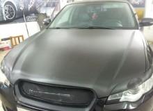 Капот и реснички на фары Subaru Legasy в черный карбон 3М!