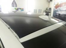 Оклейка всех хромированных элементов, зеркал и крыши в черный глянец kPMF на bmw x6! Антихром, крыша в черный глянец!