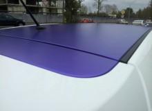 Оклейка капота и крыши на KIA RIO в фиолетовый матовый хром TeckWrap!