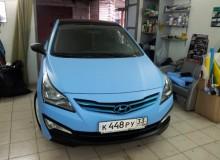 Hyundai Solaris голубой матовый