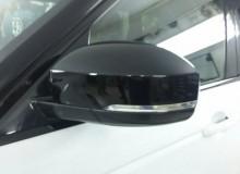 Оклейка зеркал в черный глянец и бронирование фар с полировкой на RENGE ROVER SPORT!